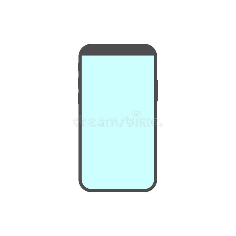 Mobiele Telefoon, smartphonepictogram Vectorillustratie, vlak ontwerp vector illustratie