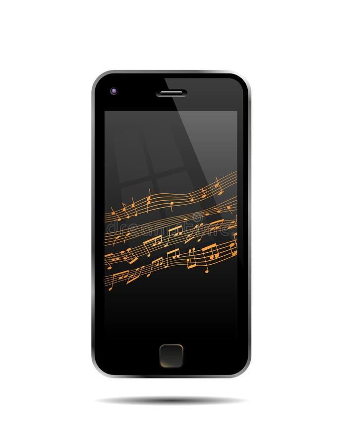Mobiele telefoon speelmuziek royalty-vrije stock foto's