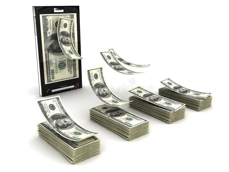 Mobiele telefoonbetaling stock illustratie