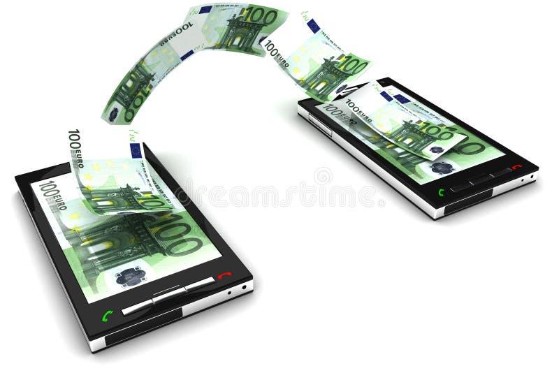 Mobiele telefoonbetaling royalty-vrije illustratie