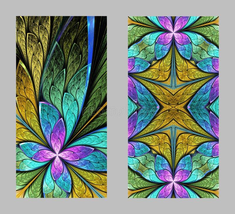 Mobiele telefoondekking terug met mooi Patroon in fractal ontwerp royalty-vrije illustratie