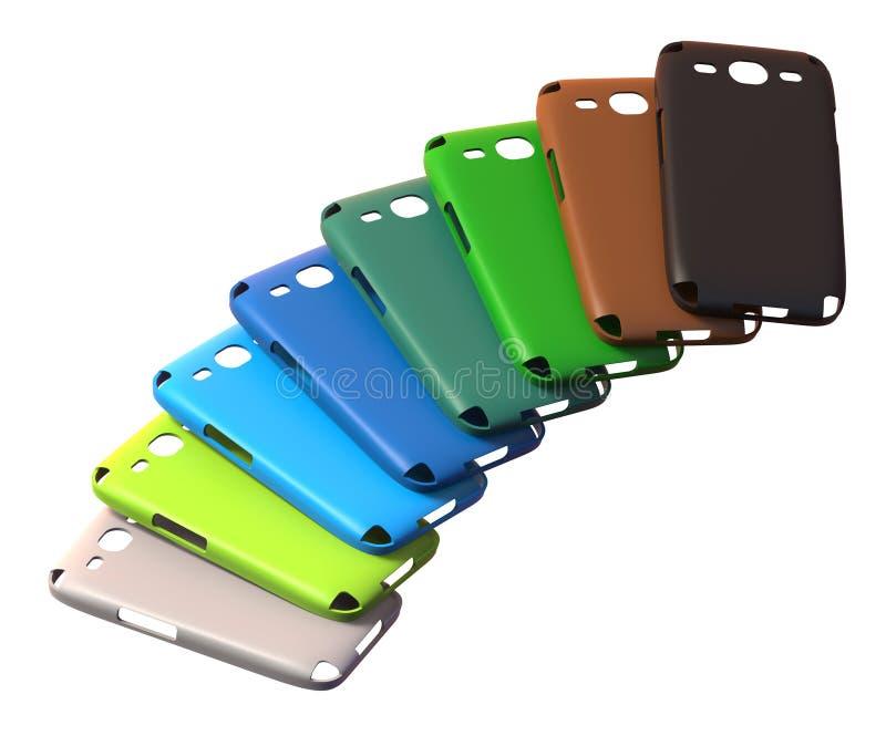 Mobiele telefoongevallen stock illustratie