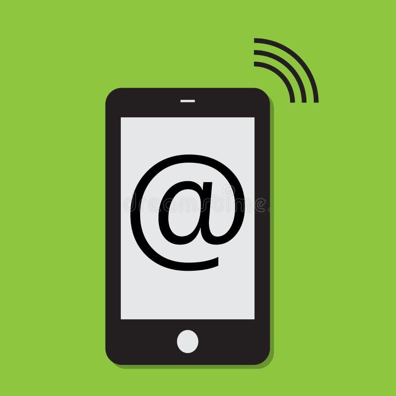 Mobiele telefoonInternet aansluting stock illustratie