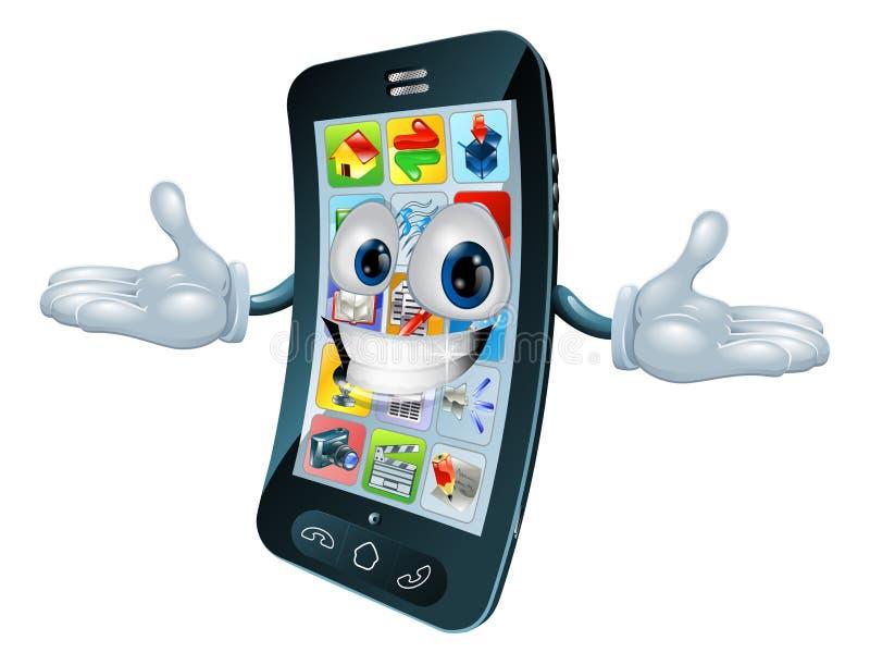 Mobiele telefoonmens vector illustratie