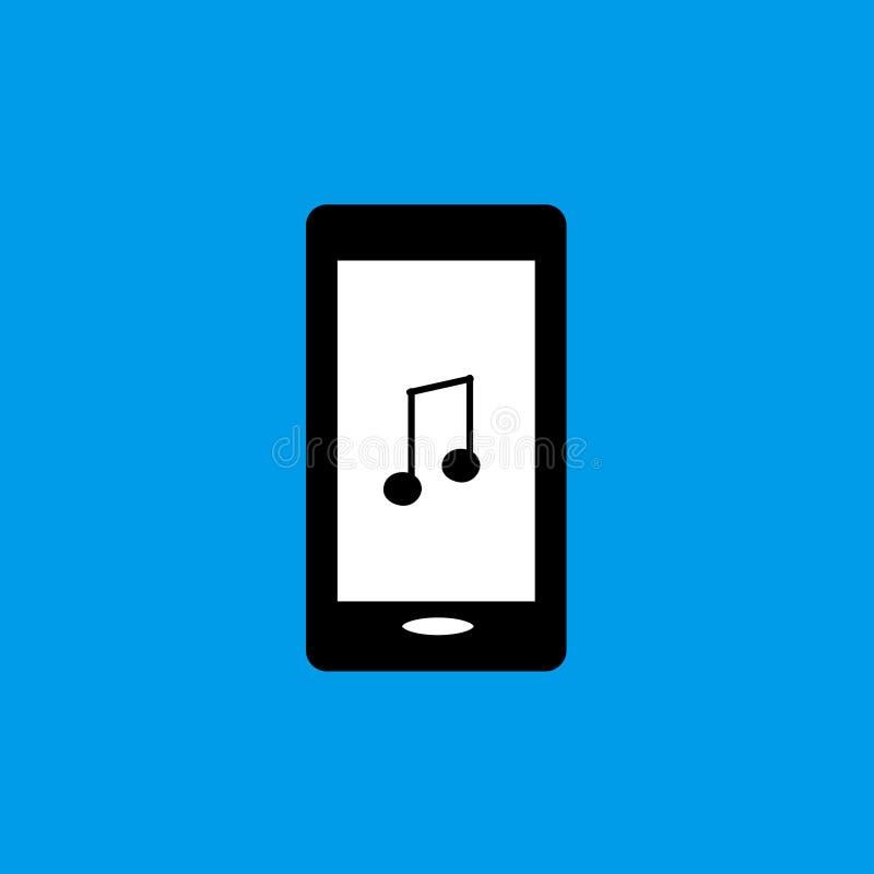 Mobiele telefoonmuziek vlak pictogram royalty-vrije stock foto's