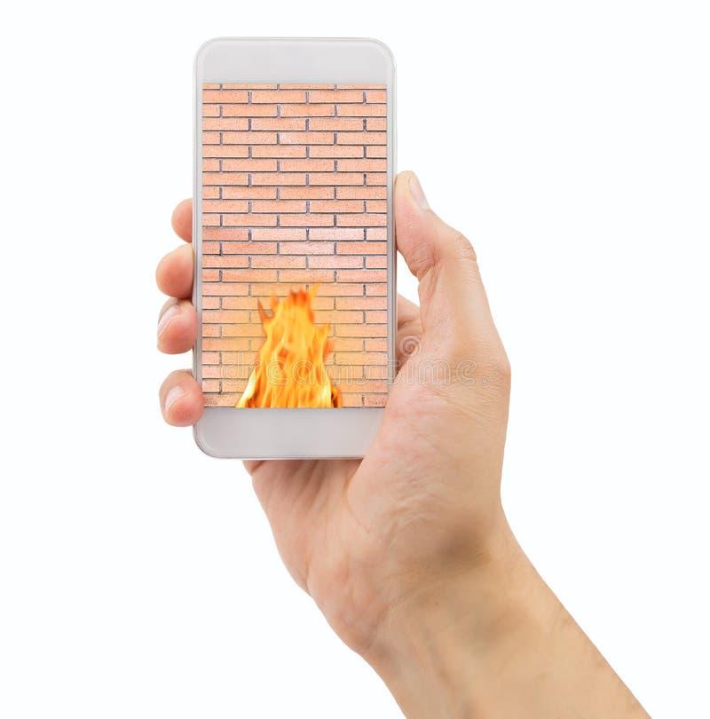 Mobiele telefoonveiligheid stock afbeeldingen