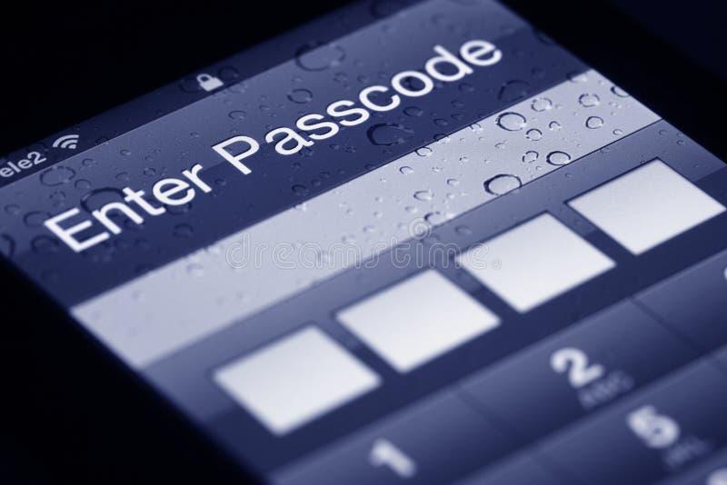 Mobiele telefoonveiligheid stock afbeelding