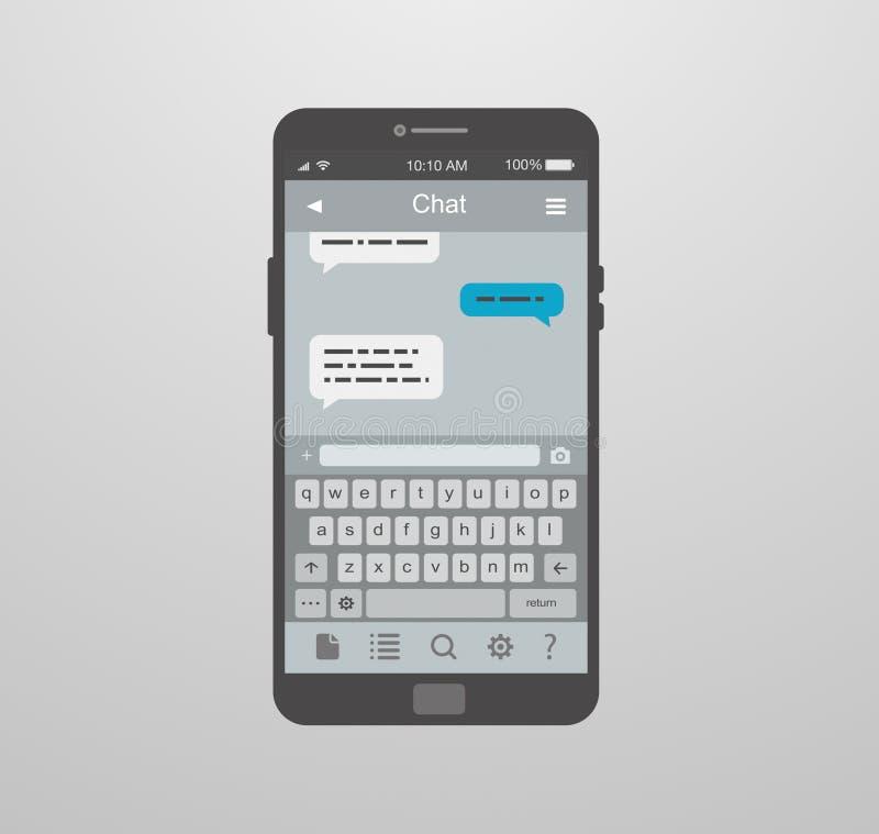 Mobiele toepassing voor praatje vector illustratie