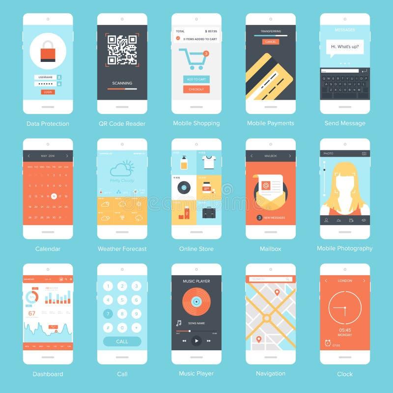 Mobiele UI royalty-vrije illustratie