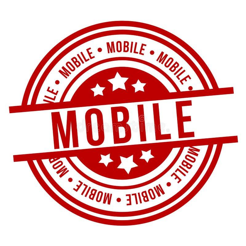 mobiele zegel Rood kenteken EPS 10 vector stock illustratie