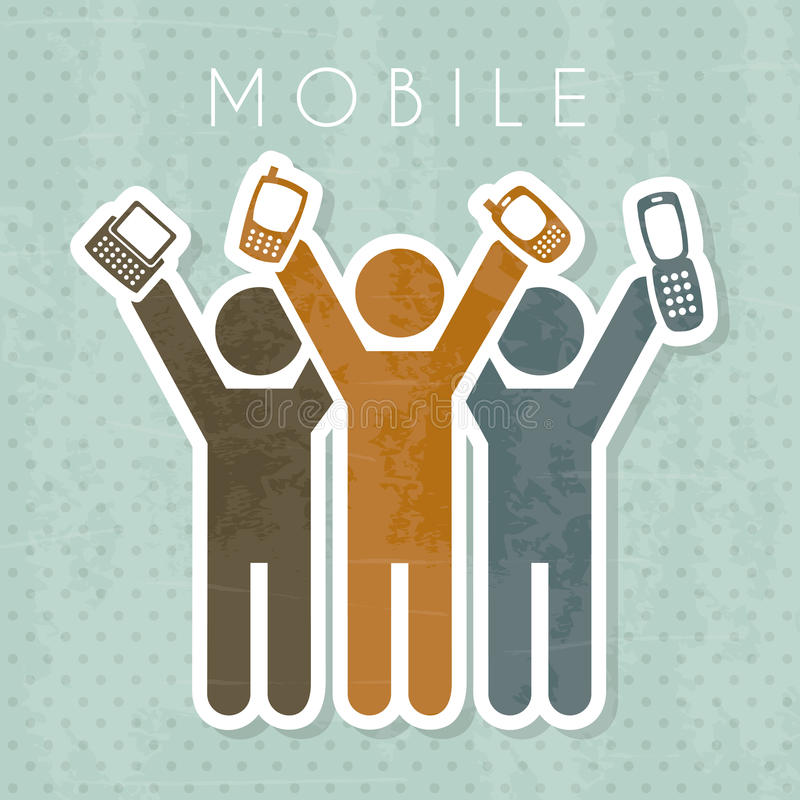 Mobil stock illustrationer