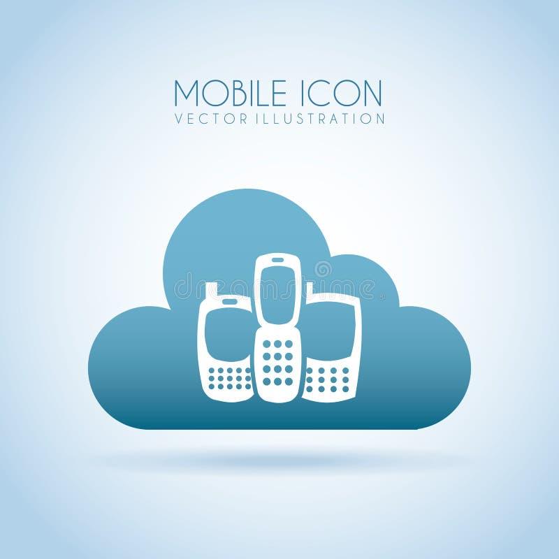 Mobil royaltyfri illustrationer