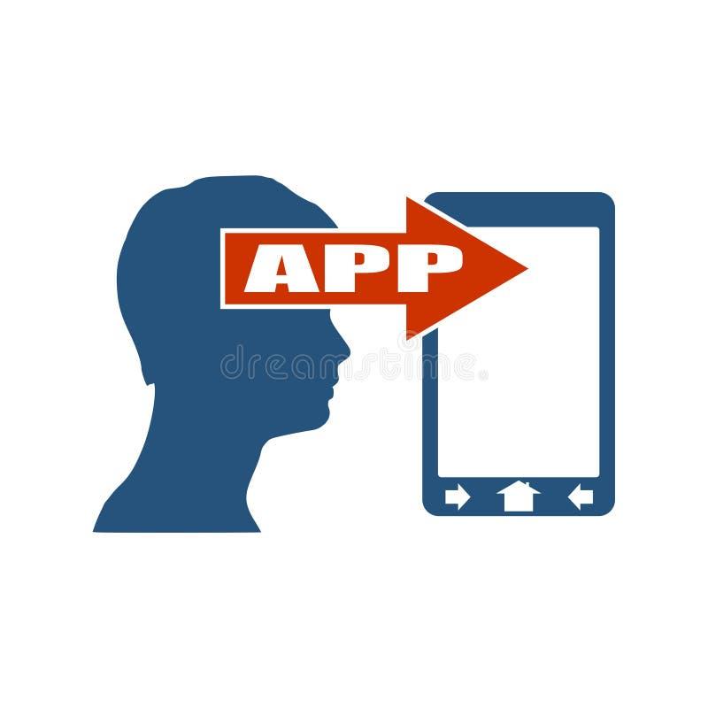 Mobil app-utveckling också vektor för coreldrawillustration vektor illustrationer