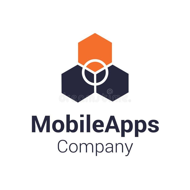 Mobil Apps Företag Logo Template arkivbild
