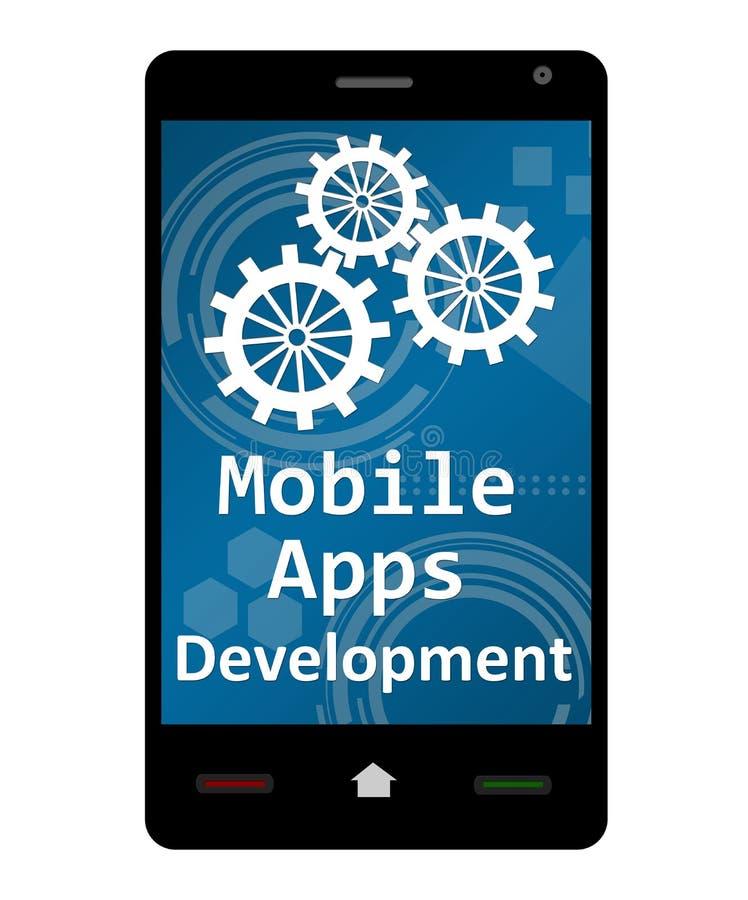 Mobil Apps utveckling royaltyfri illustrationer