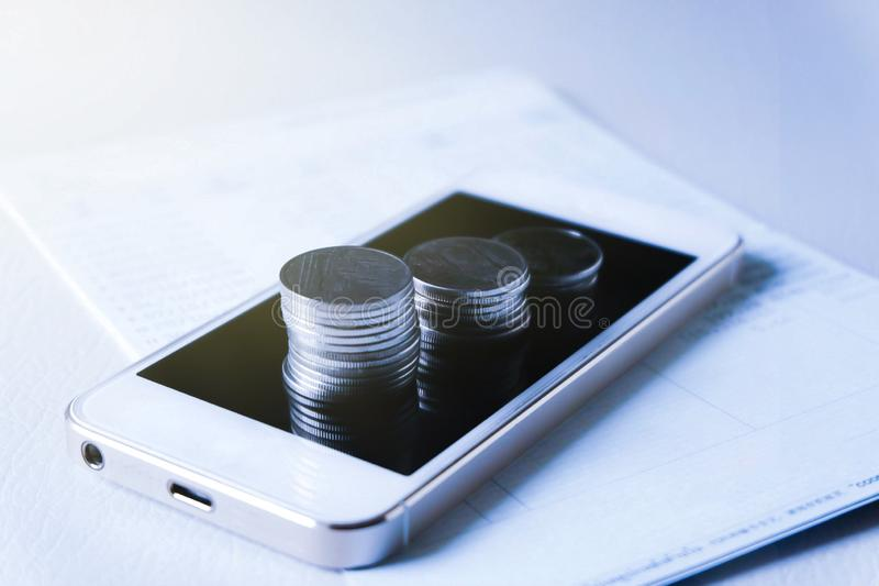 Mobil bankr?relse arkivbilder
