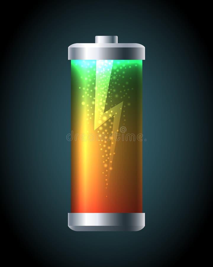 Mobil batteriladdning vektor illustrationer