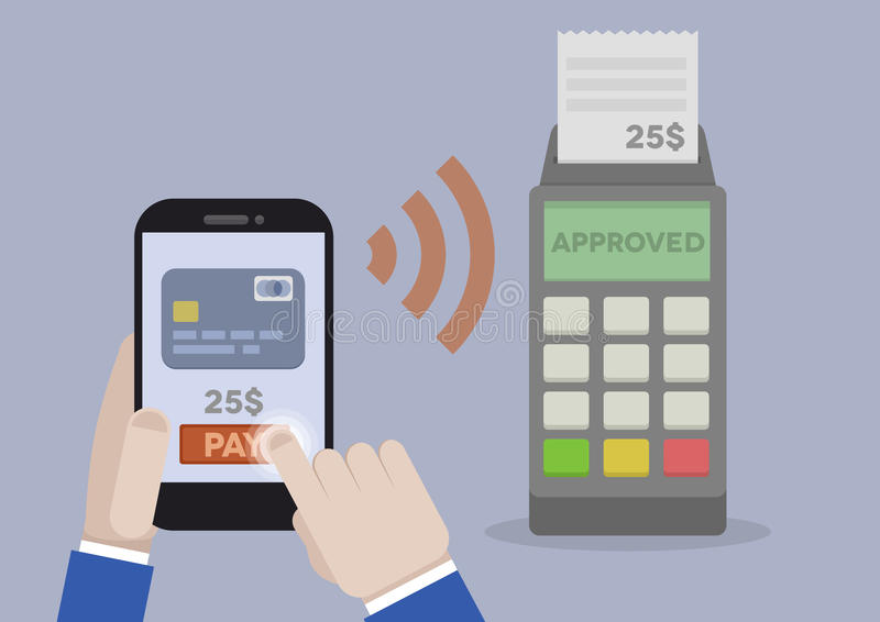 mobil betalning vektor illustrationer