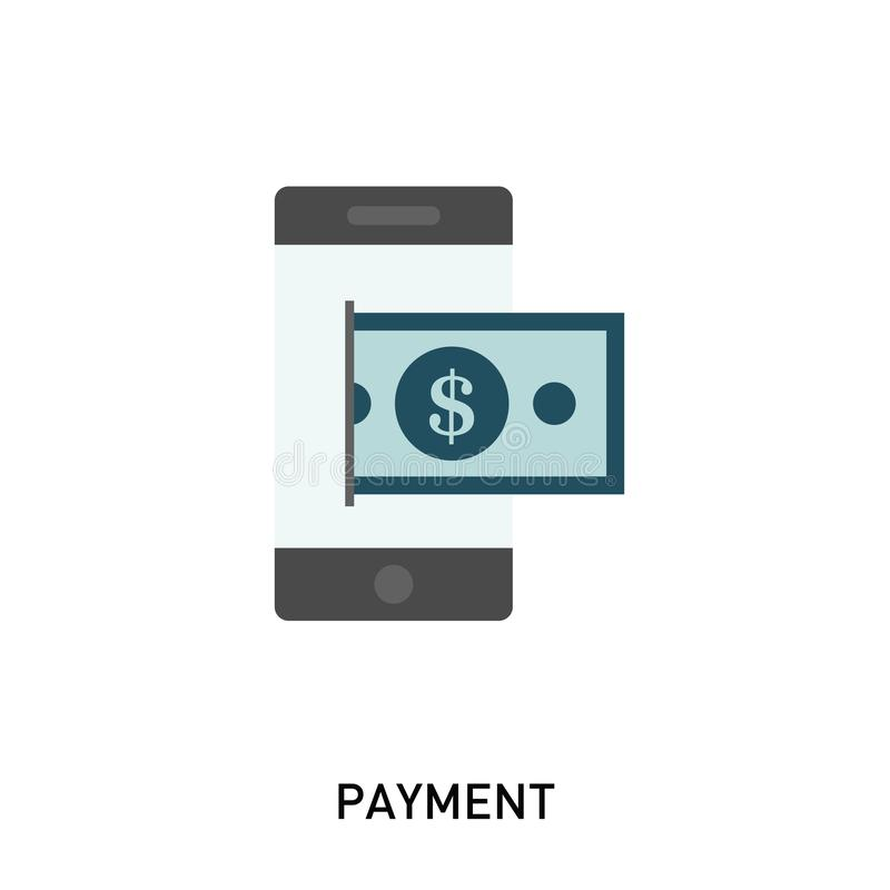 Mobil betalningsymbol vektor illustrationer