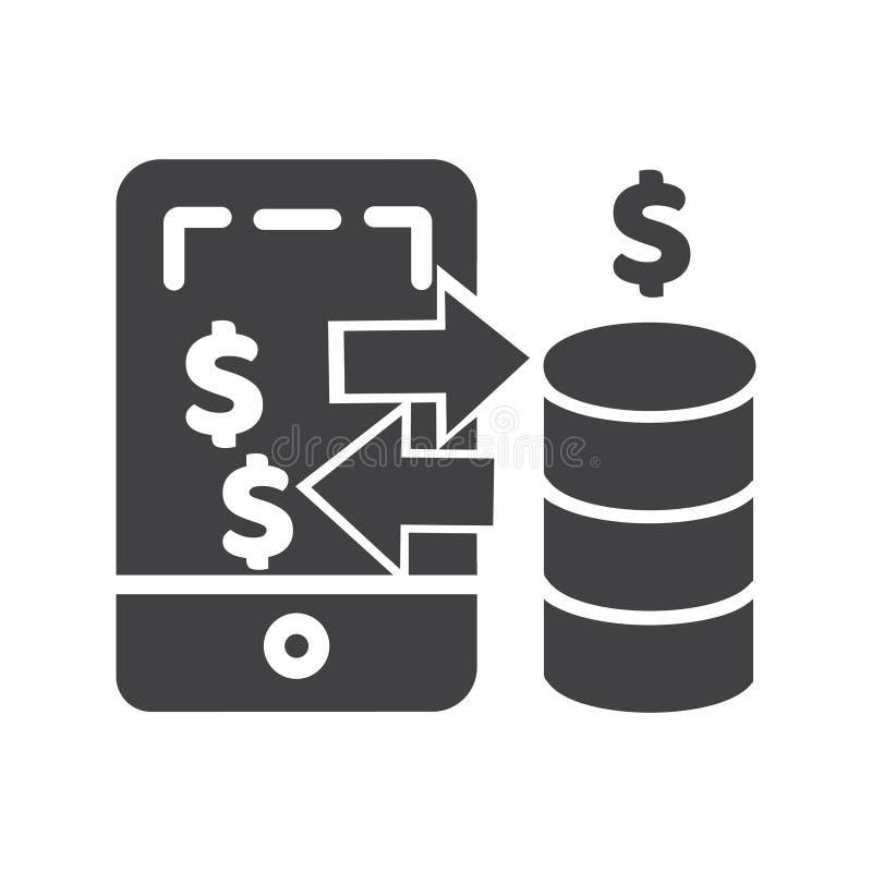 Mobil betalningsymbol symbol f?r PIXEL f?r mobil betalningvektor perfekt f?r website eller mobila apps stock illustrationer