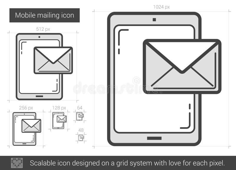 Mobil brevskickandelinje symbol vektor illustrationer