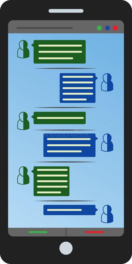 Mobil chiacchiera royalty illustrazione gratis