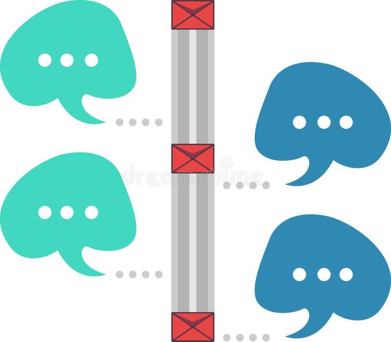 Mobil chiacchiera illustrazione di stock