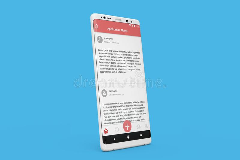 Mobil för massmedia och för nyheterna för Android modell social royaltyfri fotografi