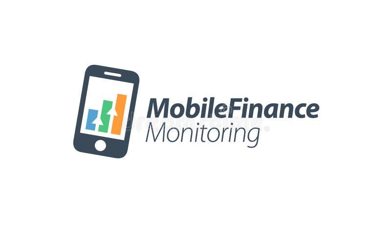 Mobil finansfördelövervakning stock illustrationer