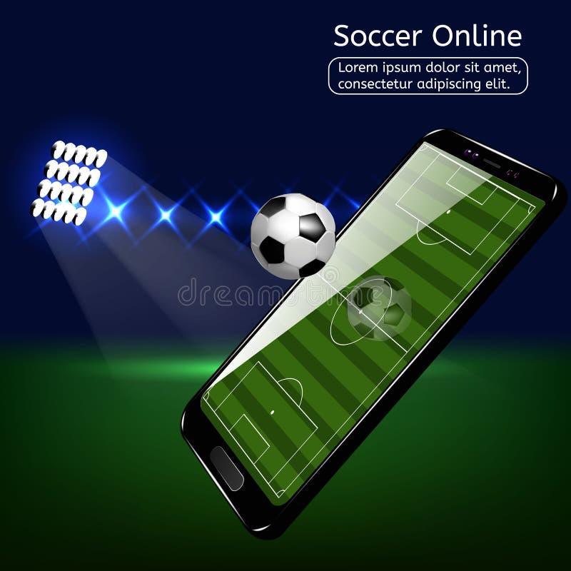 Mobil fotbollfotboll Mobil sportlekmatch stock illustrationer