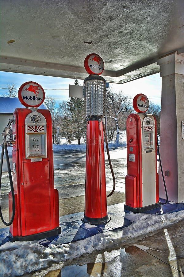 Mobil Gas Pumps 2 stock photo