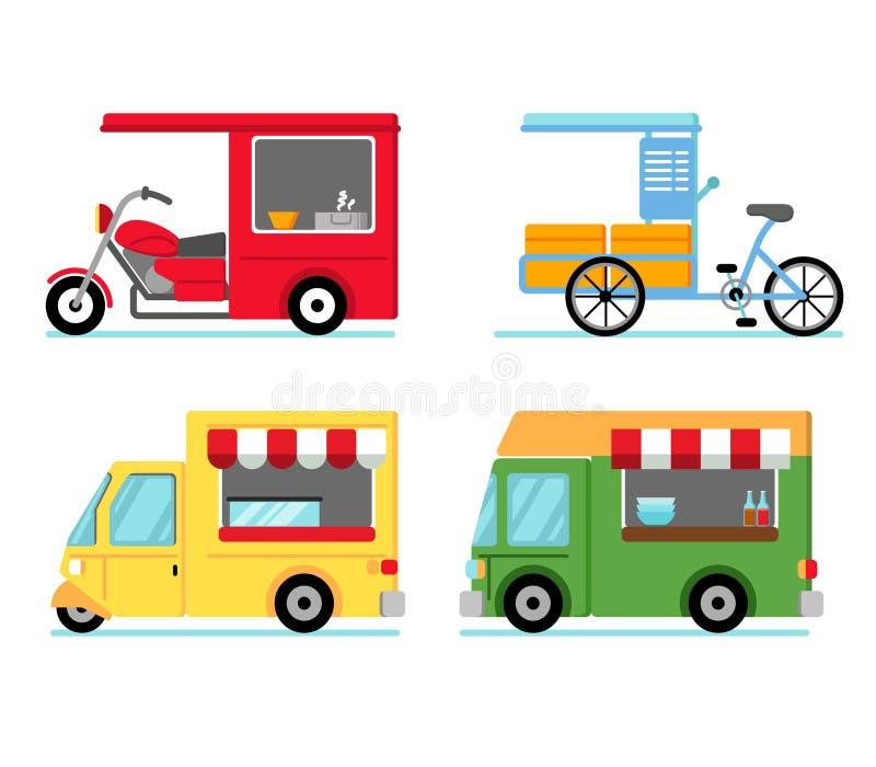 Mobil gatalivsmedelsbutik stock illustrationer