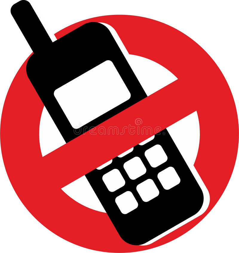 mobil inga telefoner royaltyfri illustrationer