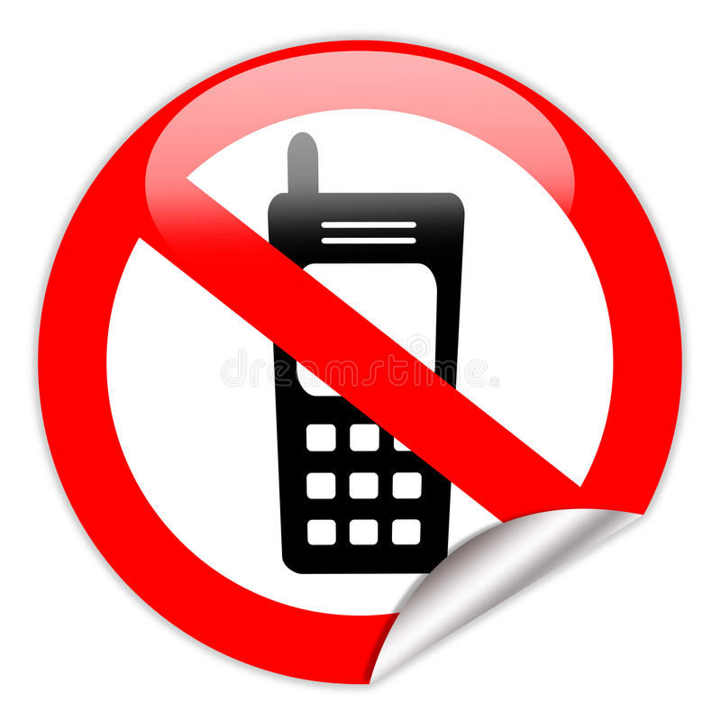 mobil ingen telefon vektor illustrationer