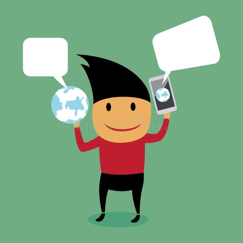 Mobil kommunikation. stock illustrationer