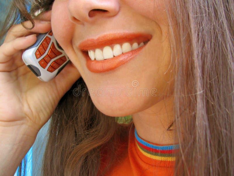 mobil kvinna royaltyfri fotografi
