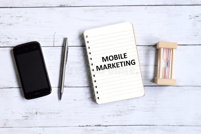 Mobil marknadsföring arkivfoton