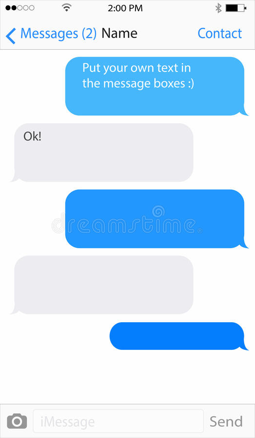 Mobil Messaging royaltyfri illustrationer