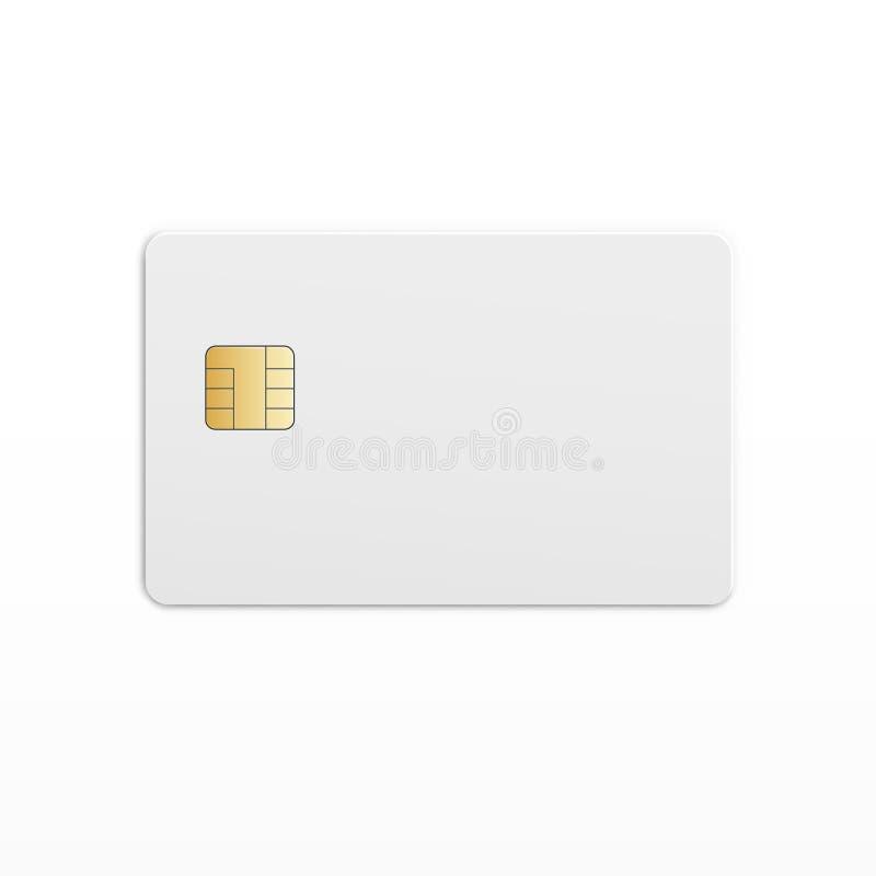 Mobil mobiltelefon Sim Card Chip för vektor stock illustrationer