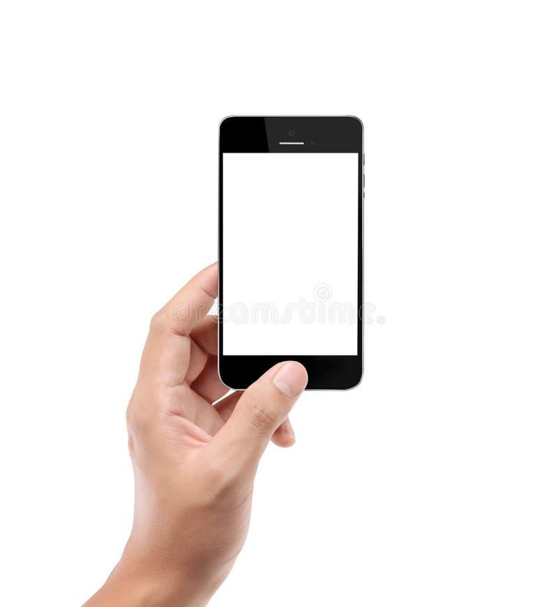 mobil modern telefon för hand fotografering för bildbyråer
