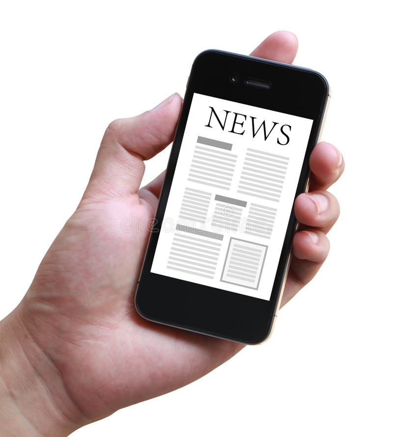 mobil nyheternasmartphone arkivfoton