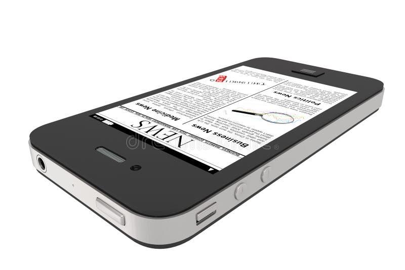 mobil nyheternatelefon arkivfoton