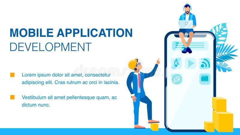 Mobil orientering för baner för applikationutveckling plan vektor illustrationer