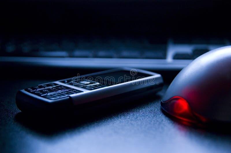 mobil PCtelefon för tangentbord royaltyfri fotografi