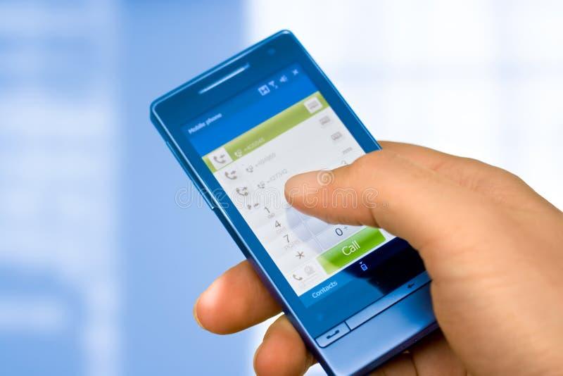 mobil pekskärm royaltyfria bilder