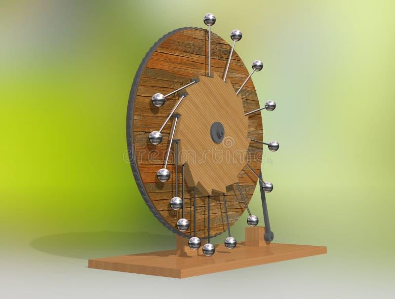 mobil perpetuum Maskin för evig rörelse för Leonardo da Vinci ` s arkivfoton