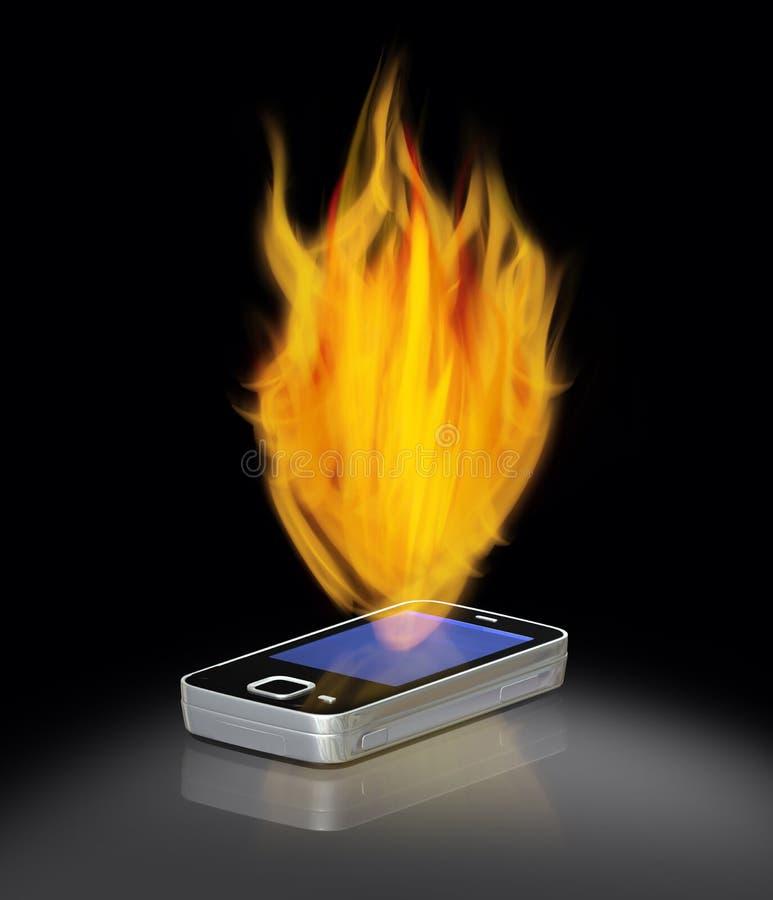 mobil pożarniczy telefon obrazy stock