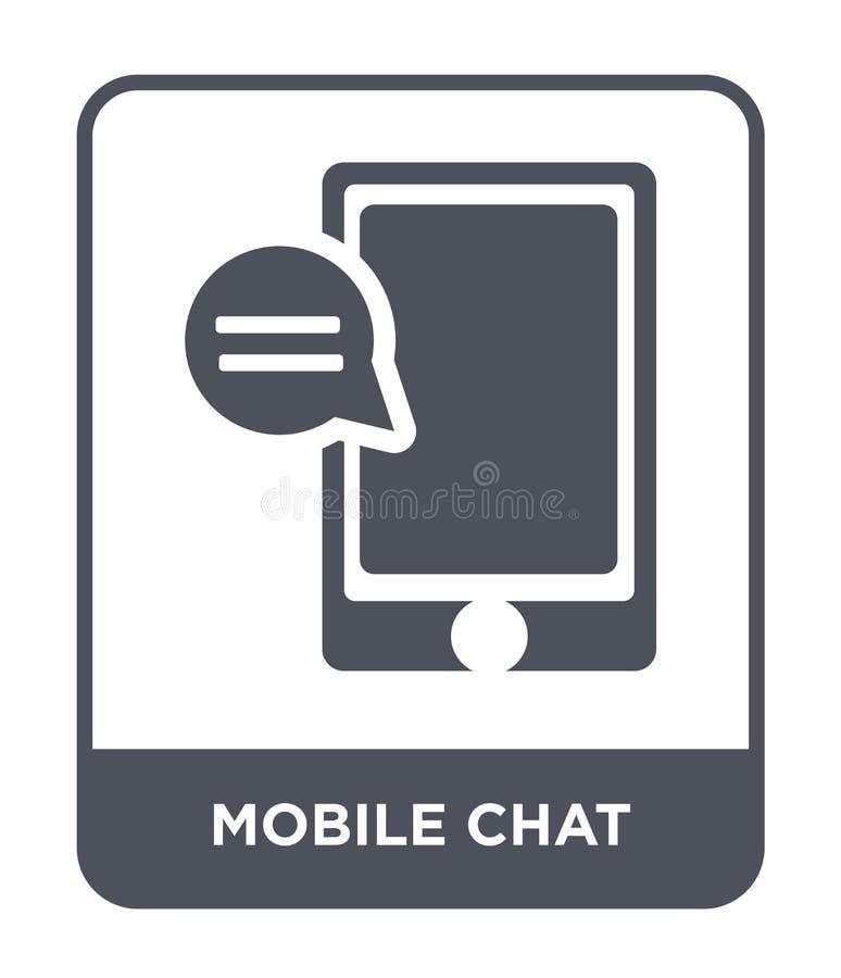 mobil pratstundsymbol i moderiktig designstil mobil pratstundsymbol som isoleras på vit bakgrund mobil modern pratstundvektorsymb royaltyfri illustrationer