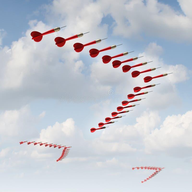 Mobil strategi vektor illustrationer