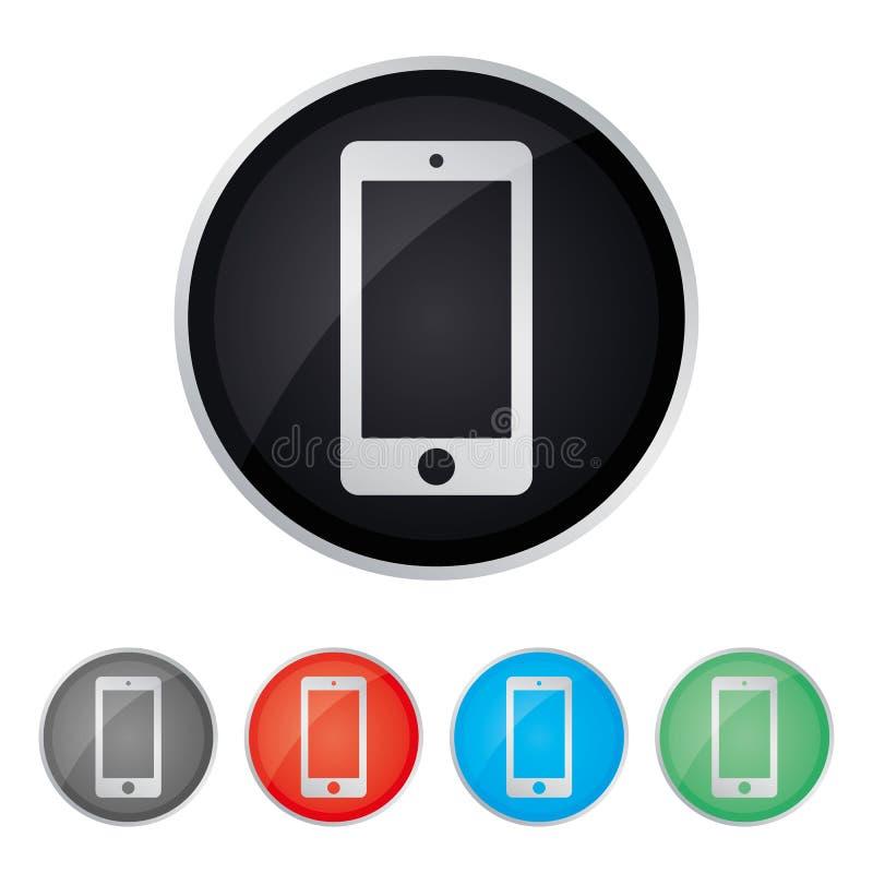 Mobil symbol för kontakt för ohonesmartphoneservice för webbplatsvektorn eps10 Smartphone servicesymbol stock illustrationer
